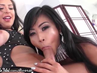 Cis Asian Cutie Loves Chanel Santini's Big Cock!