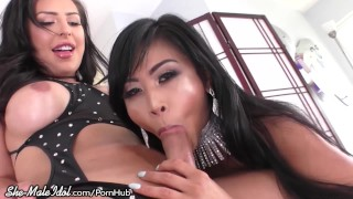 Cis Asian Cutie Loves Chanel Santini's Big Cock!