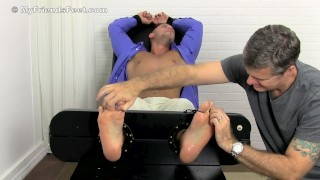 Kirk B has a beautiful foot and Daddy loves tickles it