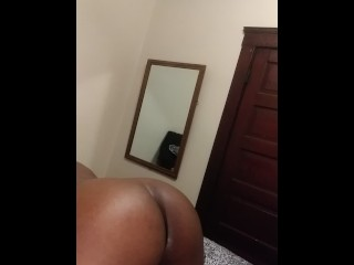 18 yr old ebony loves to get pounded from the back