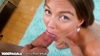 1000Facials Marie McCray Milks That Load for Her MILF Face