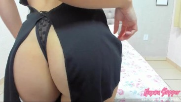 magician girl letting your cock hard and begging to cum in your butt