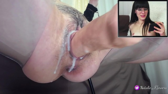Squirting woman porn Sex machine fucking my creamy pussy,when i watching porn