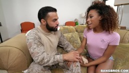 BANGBROS - Young Kendall Woods Fucks A Soldier On Brown Bunnies