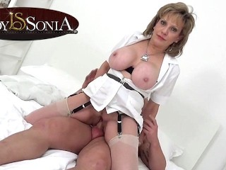 Gives a massage then gets fucked hard...