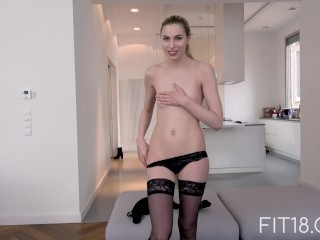 Fit18 - 6 Feet Tall Model Gives In To Agent