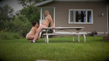 Outdoor Recreation - Missy Works Hubby's Cock For A Huge Facial