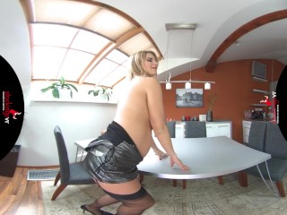 StockingsVR – Pregnant Katerina and her HUGE natural tits
