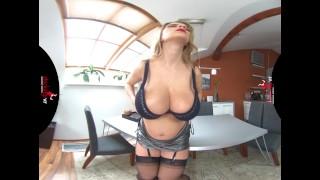 StockingsVR - Pregnant Katerina and her HUGE natural tits