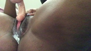 Playing with my creamy pussy and stretching my tight asshole