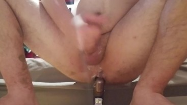 Using stepmom's dildo, hard cum