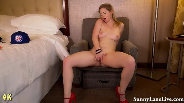 Batter Up! Sunny Lane is the Hottest Cubs Fan EVER! 8