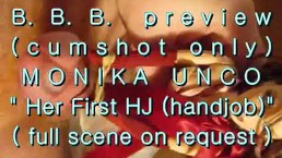 "B.B.B. preview: Monika Unco's ""1st HJ""(cumshot only)WMV withSloMo"