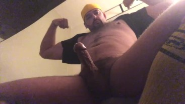 Beefy Muscle Stud With Rock Hard Erection Shoots Thick Sperm