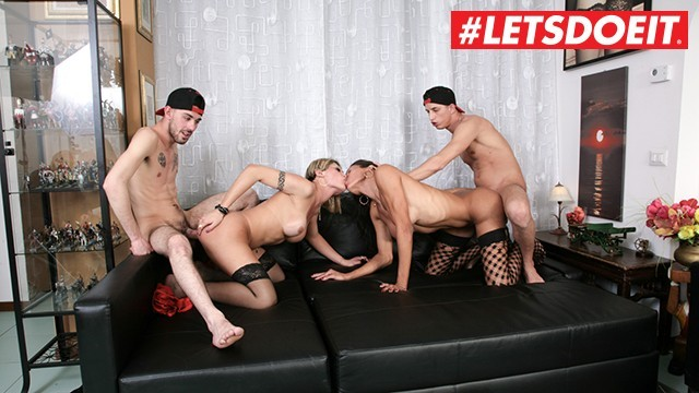 Free tranny file sharing Letsdoeit - busty tranny babes share two college amateur guys