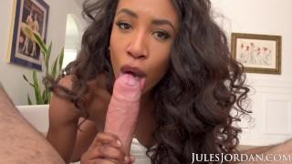 Jules Jordan - Ebony beauty Demi Sutra fucked hard in POV