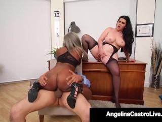 BBW Angelina Castro & Phat Harmonie Marquis Blow & Bang Cock
