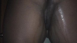 squirting on my dildo from behind