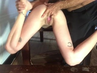 Slave Ruby anal toy squirt part 2