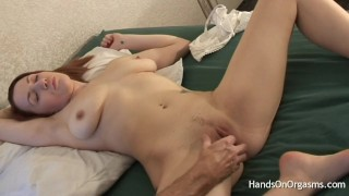 Hot Babe With Natural Breasts and Wet Pussy Gets Orgasm Treatment