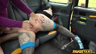 Fake Taxi Canadian babe Karma Synn rides the Bishop hard
