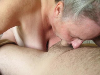 Big tits hairy pussy mature lady silver hair...