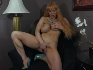 Blonde Barbie With Plastic Tits Toys Her Cunt
