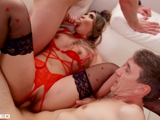 Rammed – Brenna Sparks in a RAW unscripted threesome