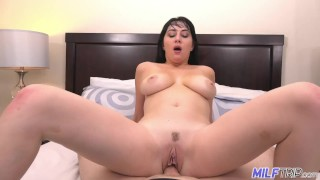 MILF Trip - Brunette MILF with big tits and ass gets large cock - Part 2