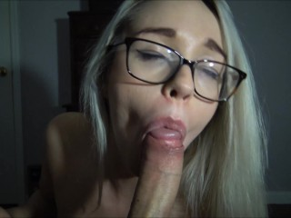 The Adult Video Experience Presents Violet Sucks throbbing cock for huge thick facial