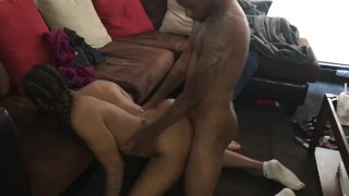 Fuck Her On The Floor In My Socks From The Back. Cum inside her