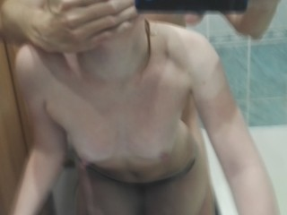Fucked friend's wife in the bathroom
