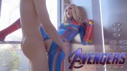 4K Avengers: Captain Marvel fucks with man