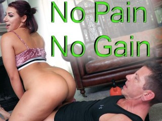 19 year old Twerks on Trainer's Dick -Valentina Jewels in No Pain, No Gain