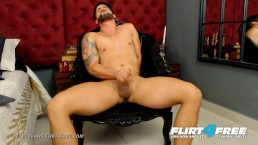Petes Evans on Flirt4Free - Hispanic Hottie w Big Cock Sits on a Big Dildo