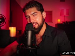 ASMR Romantic Boyfriend Role Play Ft. Kissing Sounds, Hairy Chest, Beard, +