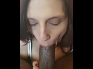 Milf deepthroats dick and personal...