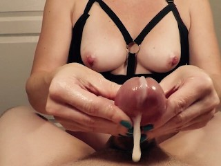 POV Edging Handjob With Ruined Orgasms  Post Orgasm Torture  Lots Of Cum