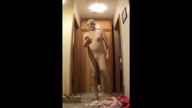 Making Selfie with Silicone Doll Suit - Femskin