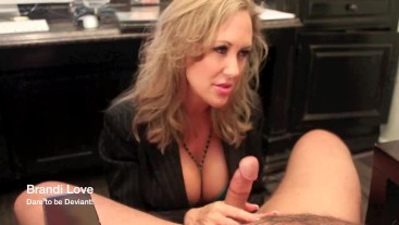 Brandi Love giving handjob