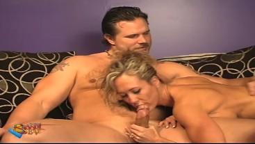 Gorgeous Milf Brandi Love Blows Husband