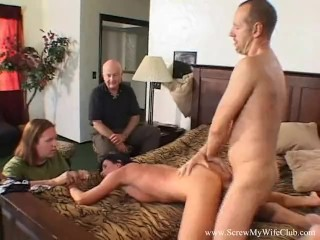 Husband Watches Wifey Swing On Him