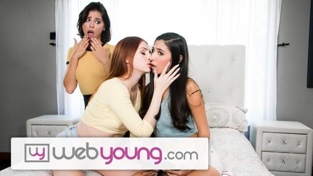 Lesbian seduction seduce - Webyoung 18yo redhead seduces her 2 high school bffs