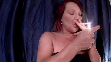 MILF Smoking a cigarette