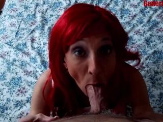 Redhead cim swallows keeps suckin...