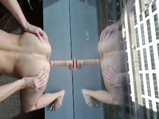 Fucks his hole on high rise part 4...
