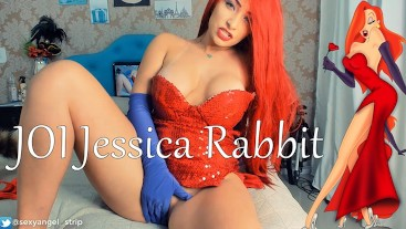 JOI // Cosplay Jessica Rabbit // Oral Creampie Teasing QUEEN