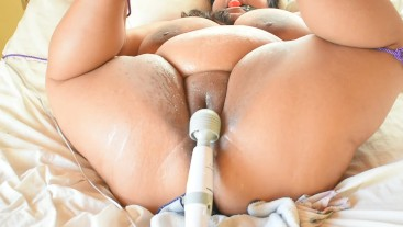 SQUIRT! BBW Gets Tied Up and Made to Cum Over and Over Again!