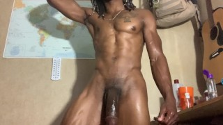 spycam on huge BBC webshow. massive cum shot. muscle stud caught