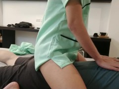 Massage therapist home service gets paid for extra service. Creampie 4 cash